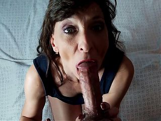 Tiny Milf Knows How To Suck It – She Swallows