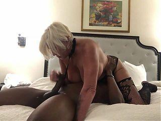 Rich grandma playing with bbc