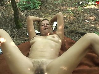 Hairy GILF gets fucked and facialized - JustHaveSex.com