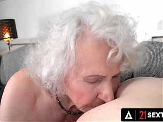 Elderly Boss Wants To Try Pussy Before She Retires