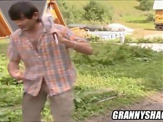 granny's hairy ass and pussy