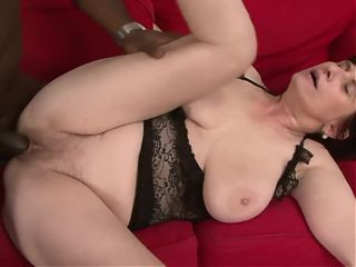 GRANNYLOVESBLACK - Busty Janicka Pounded In Both Holes