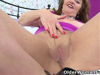 Lady Avas purple sex toy will get the job done