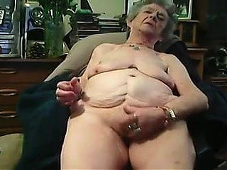 72yo Granny masturbates on webcam