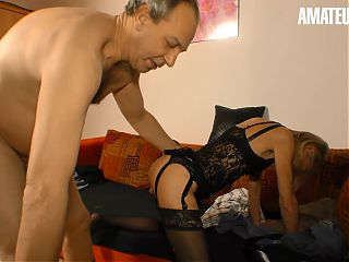 XXX OMAS - Sexy Skinny German Cougar Gets Drilled Hard By Husband