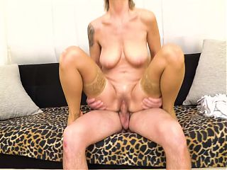 Taboo sex with mature mom and son