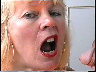 Mature swallowing slut