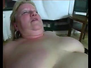 Fat blonde granny loves to dominate