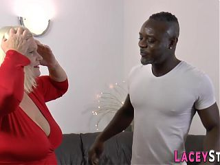 Grandmother gets analized by black cock