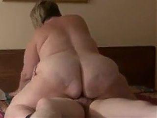 Huge Ass Granny Riding a Cock