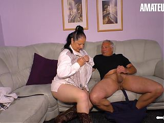 AMATEUR EURO - Sexy German Wife Abby Titts Feels Horny Today
