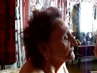 Very old granny gets cum in mouth