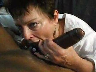 Granny licking huge BBC