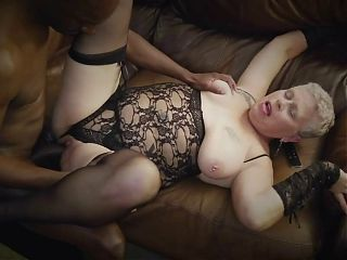 Interracial - BBC slays White Granny pussy in Tampa