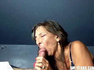 Sexy Milf Marie Close-Up Big Cock Sucking