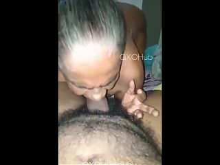 Desi Granny Sucks and Fuck Young Grandson in Hindi
