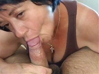 Milf loves sucking young dick