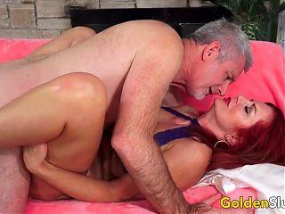 Golden Slut - The Dick Her Mature Pussy Deserves Compilation