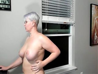 64 year old woman playing with dildos