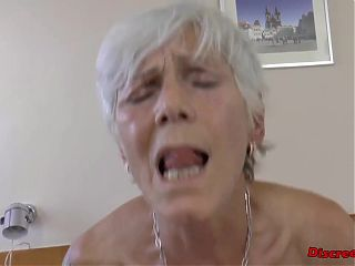 Slutty petite old woman asking for forgiveness