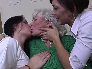Old 78y, young 29y, young 22y lesbian