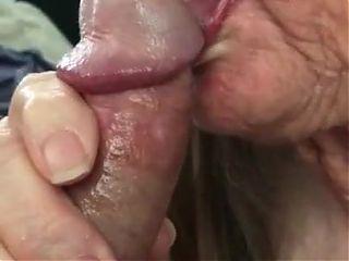Granny Milks The Cock